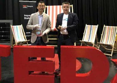 Isaac and Mark at TEDxGlasgow